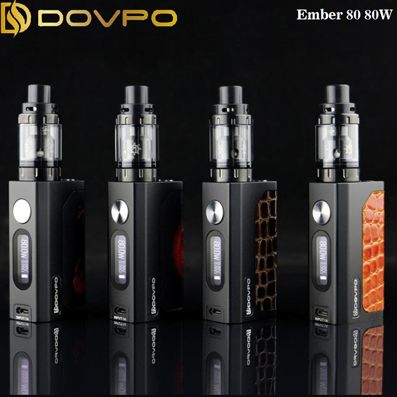 100% Original Dovpo Ember 80W box Mod Kit Temperature Control OLED built-in Battery Electronic Cigarette 510 Thread E Vape