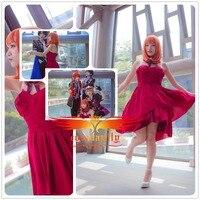 Uta No Prince Sama Season 4 Haruka Nanami Cosplay Costume Custom Women Dress Skirt Adult Women Sexy Sleeveless Dress Necklace