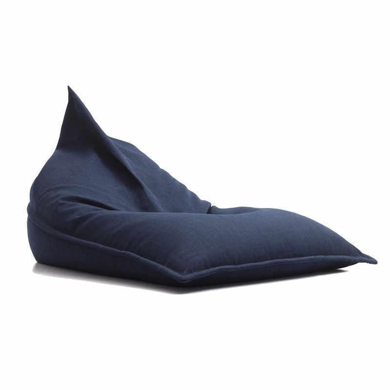 Grande Cadeira do Saco de Feijão Espreguiçadeira Para Adultos Crianças Chão Almofada Beanbag Sofá Preguiçoso Saco Sentado Beanbag Cadeira de Leitura Pufe Puff assento