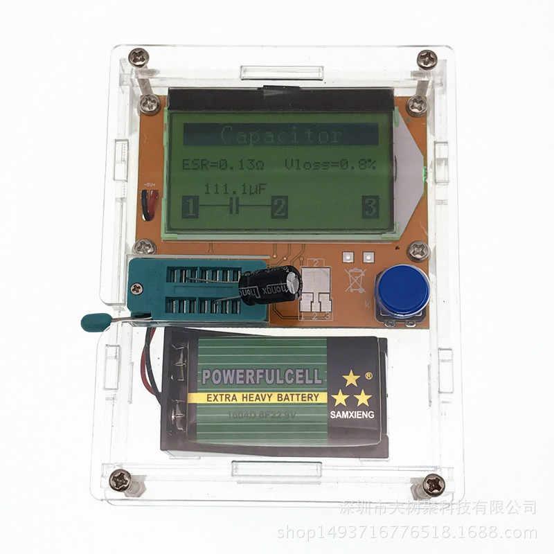 واضح الاكريليك حالة الترانزستور تستر صندوق بطارية حالة البطارية التقط DIY عدة قدرة ل LCR-T4 Mega328 الترانزستور اختبار متر