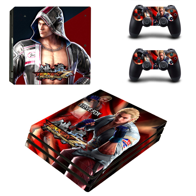 15 Styles Tekken 7 PS4 Pro Game Skin Sticker For Sony Playstation 4 Promotion Console & 2Pcs Controller Protection Film