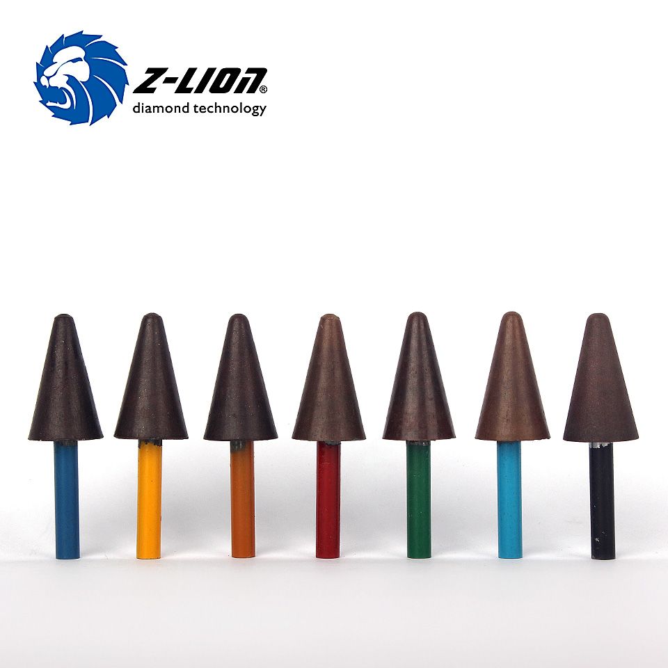 Z-LION 7pcs/Set Diamond Drill Sharpening Bit Carve Tool Resin Bond Diamond Points for Polishing Grinding Wet Use Abrasive Tools