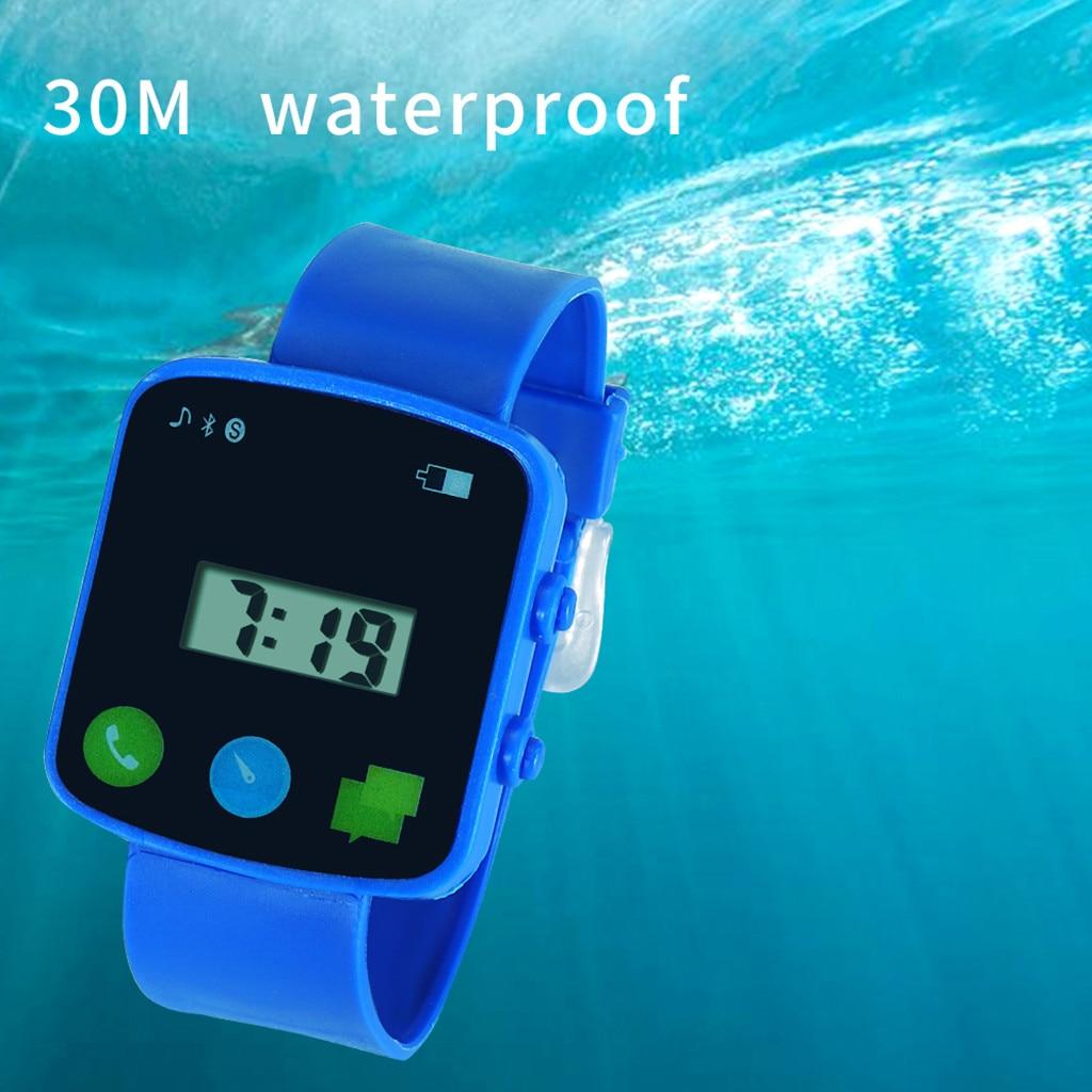 Digital Watch Wrist Clock0605 Stainless-Steel Military Sport Waterproof Silicone Men