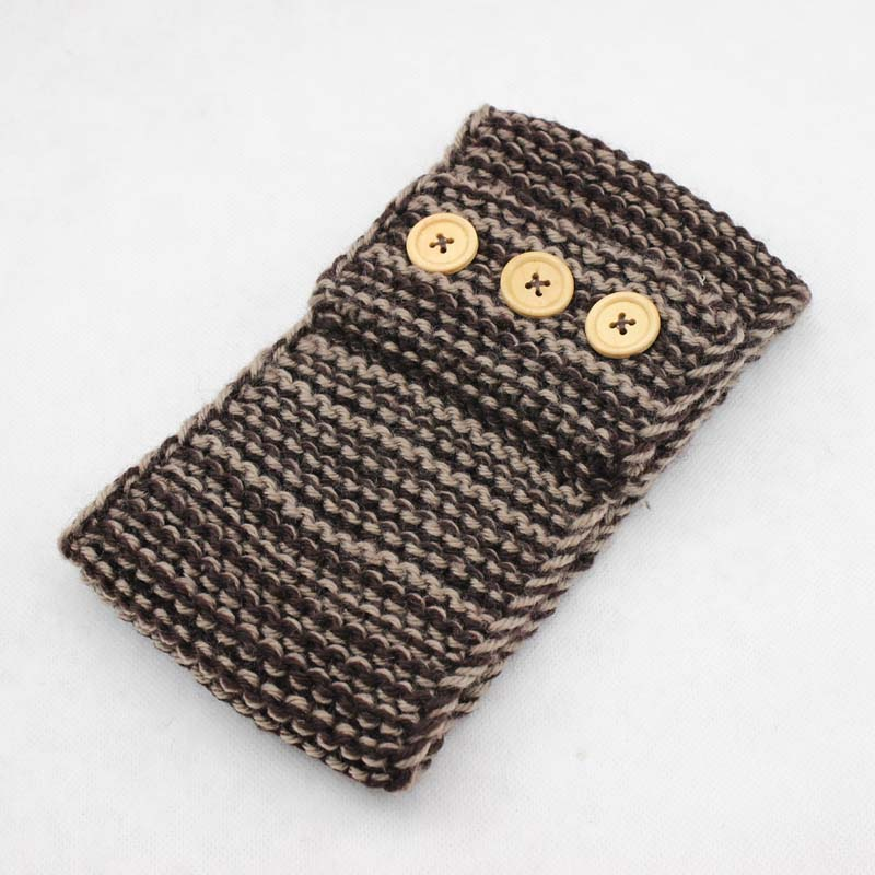 Womens Lady Hairband Hemp Crochet Headband Knit Warmer Headwrap