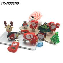 Transcend Christmas Gift Flash Drive High Speed 3.04GB 8GB 16GB 32GB 64GB U Disk Pendrive Creative Memory Stick Company Gift