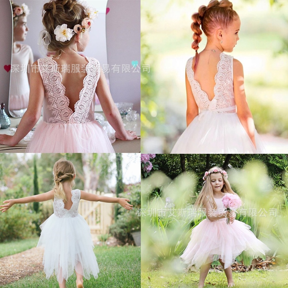 TUTU 2019 Spring and Summer New Lace Backless Pettiskirt Girls Dress Dress Tutu Dress Princess DressTUTU 2019 Spring and Summer New Lace Backless Pettiskirt Girls Dress Dress Tutu Dress Princess Dress