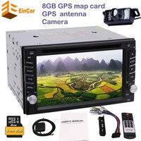 Backup camera+2 din autoradio in dash car CD DVD player headunit double din gps navigation radio stereo auto tactic car pc radio