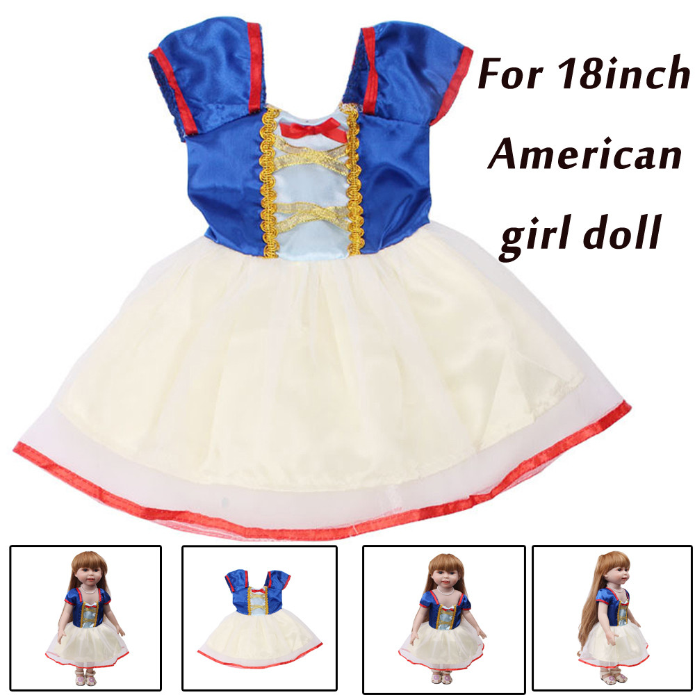 Mini Dress Doll Clothes Summer Clothes Skirt For 18 Inch  Girl Doll Accessory Girl's Toy Clothes For Doll Accessories