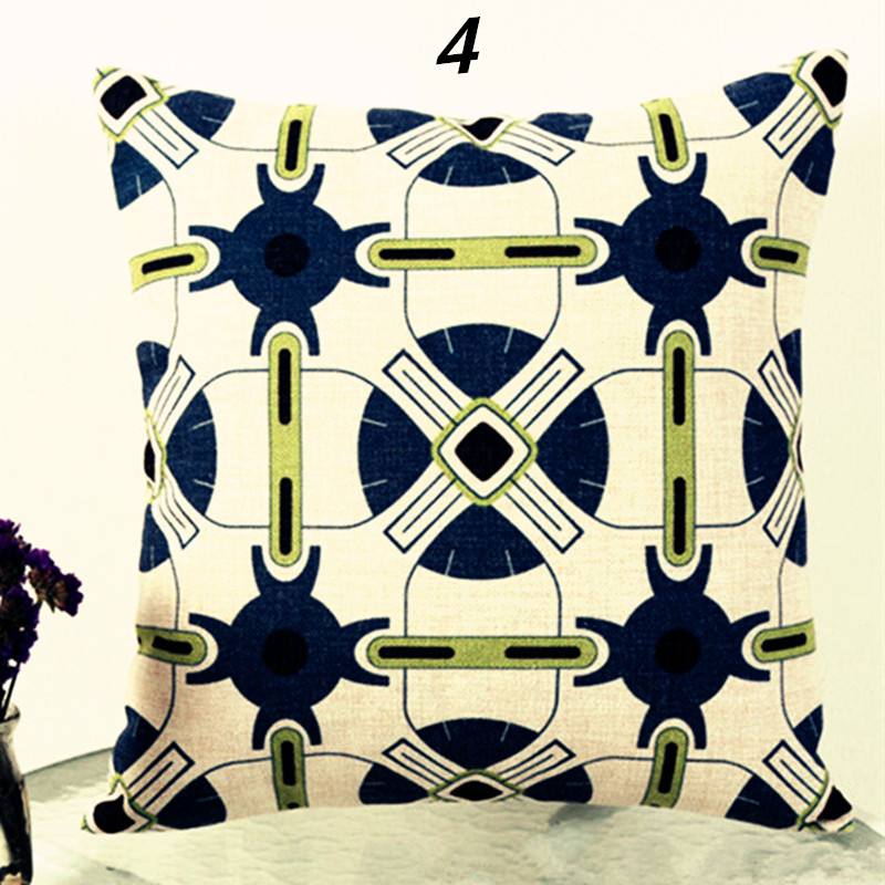 Hot Sale Linen Fabric Print Geometric Pattern Vintage Cushion Cover Decorative Pillowcase Home Decor Cheap Price Gifts Pc196