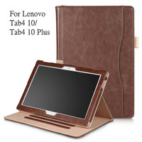 Fashion PU Leather Case For Lenovo TAB 4 10 Full Protective Smart Cover For Lenovo Tab4