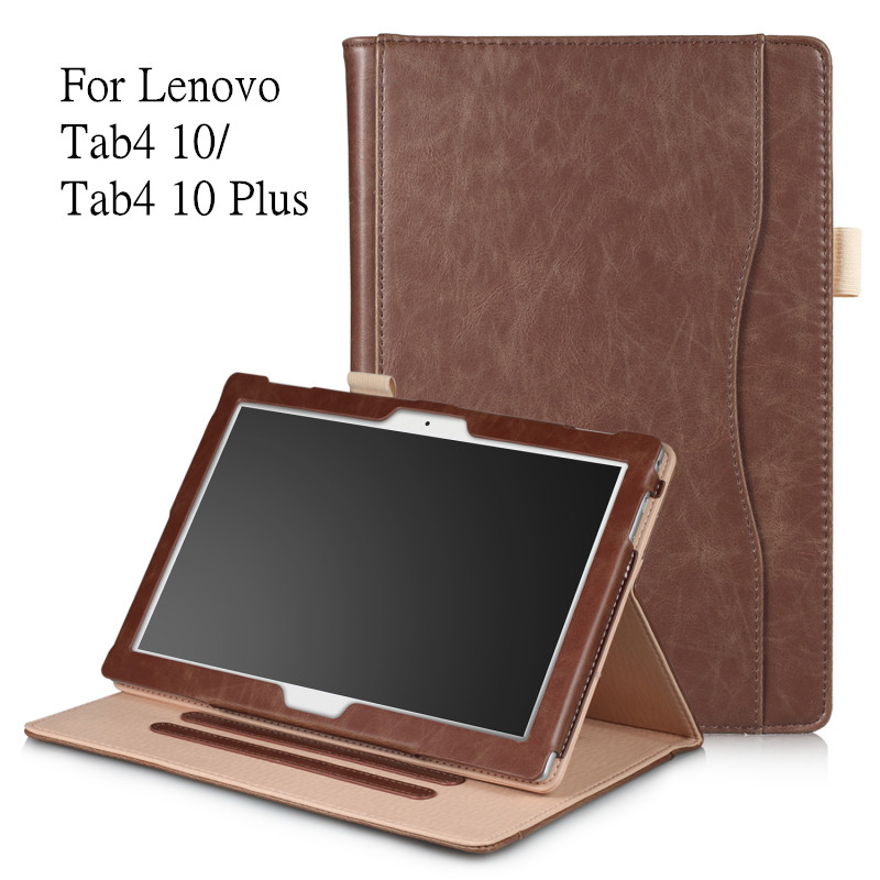 Fashion PU Leather Case for Lenovo TAB 4 10 Full Protective Smart Cover for Lenovo Tab4 10 TB-X304F TB-X304N Tab4 10 Plus Cover ножницы для живой изгороди 10 truper tb 17 31476