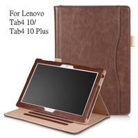 Fashion PU Leather Case For Lenovo TAB 4 10 Full Protective Smart Cover For Lenovo Tab4