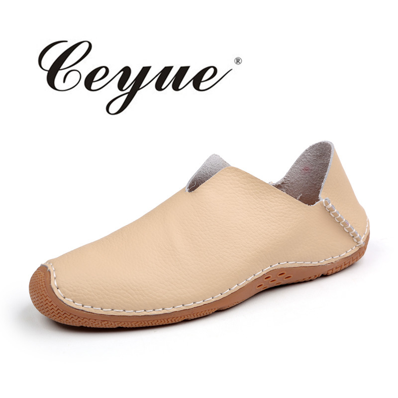 Ceyue Brand Summer Causal Shoes Men Slip On Loafers Soft Leather Men Moccasins Driving Shoes High Quality Flats For Man Size 44 ceyue new genuine leather men casual shoes cowhide driving moccasins slip on loafers men hot designer shoes flats big size 38 47
