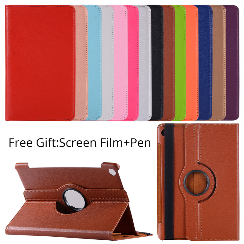 360 Rotating Case for Huawei MediaPad M5 10.8 Folding Stand PU Leather Case Flip Cover for Huawei M5 Pro 10.8 inch Tablet Fundas w 7 classic flip open pu leather case w stand for huawei y300 white