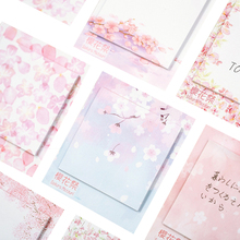 30sheets/pack Pink Square Memo Cherry Blossom Festival Series Memo School Office Supply Message Label
