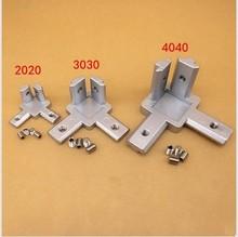 2020 3030 4040 T Slot Aluminum Profile 3-way 90 degree inside corner bracket Interior Connector f Alu-profile 3D printer cheap Mechanical Kit Hardware Parts Funssor for 2020 3030 4040 aluminum profile frame 3D printer use