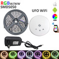 RGBW LED strip DC12V 60LEDs/meter 5m/roll LED strip RGBW / RGBWW flexible led stirp +ufo wifi controller +4A power adapter EU US