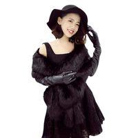 Faux Fur Scarf Imitated Cape Winter Women Warm Fur Wraps Elegant Ladies Long large Fur Thick Shawl