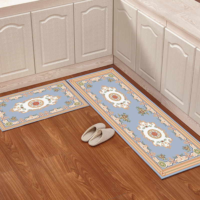 2pcs/set anti skid modern kitchen mat dining room entrance