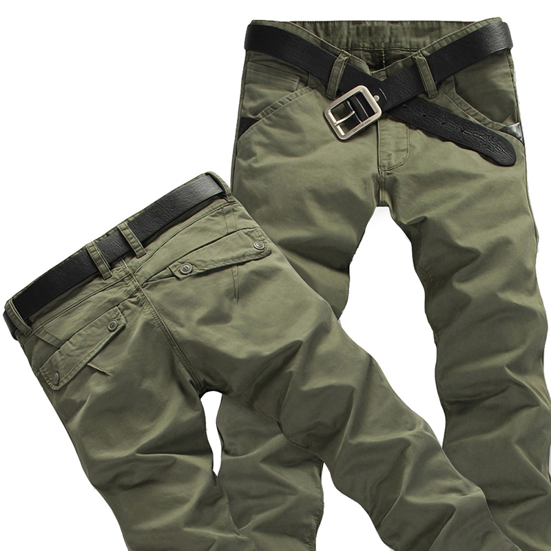 2018 New Tactical Cargo Pants Mens Casual Cotton Trousers, Classic Sweatpants ...