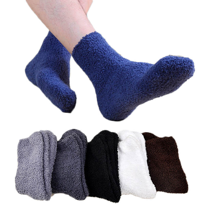 Мужские уютные кашемировые зимние мужские толстые носки зимние теплые пушистые носки-тапочки шерстяные однотонные мужские носки Chaussette Homme Calcetines