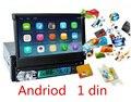 Frete Grátis 1 Din player do carro Andriod dvd Motorizado Flip out 7 Touchscreen Monitor de Navegação gps Bluetooth USB AUX input SD