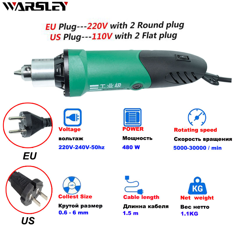 Image 4 - Dremel Mini Electric Drill engraver Rotary Tools 480W with Flexible Shaft and  dremel accessories with 6 Variable Speed-in Electric Drills from Tools on