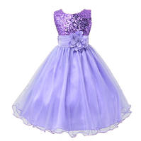 Hot Selling Baby Girls Flower Sequins Dress Party Princess Dress Children Kids Clothes 9 Colors 3