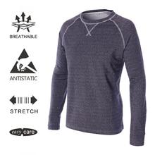 EAGEGOF для мужчин's утепленная одежда Гольф Поло футболка с длинным рукавом повседневное Спортивная в демисезонный Мужской сухой