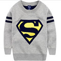 Розничная Торговля! Новый Осень Зима Мальчик Супермен Свитер Мальчики Куртка Размер Одежды Освобождаются Почтовые 4 до 7 Лет