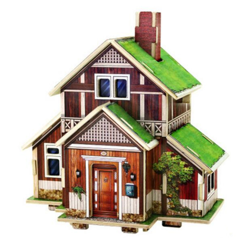 Wood model kits for adults promotion shop for promotional for 3d house model maker