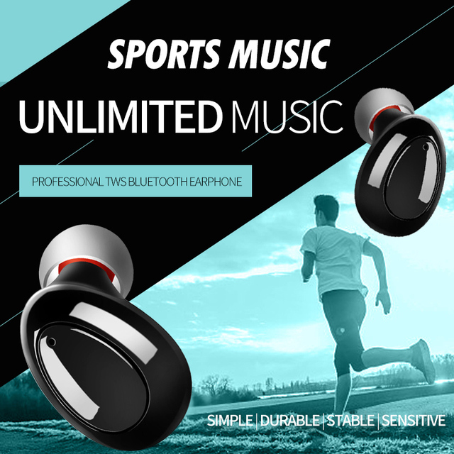 46751597775 Mini Sweatproof Bluetooth TWS Earbuds Running earphone Stereo Best Noise  Cancelling Wireless Headphones headset Sports Gym