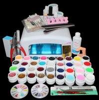 Nuova Pro 36 W UV GEL Bianco Lamp & 36 Color Gel UV Attrezzi di Arte del chiodo Set Kit ST-111 lampada UV di vendita Calda 36 Tues 36 W