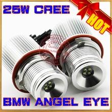 Высокая мощность 25 Вт! Кри из светодиодов маркер для BMW E39 E60 E61 E87 E63 E64 E65 E66 E53 из светодиодов глаза ангела маркер для BMW 5 6 7 серии X3 X5