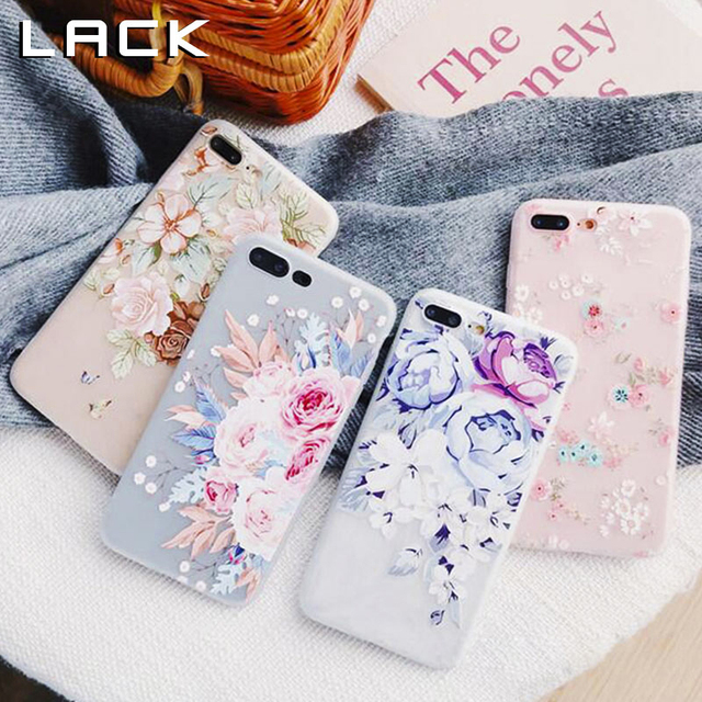 LACK Fashion 3D Relief Flowers Phone Case For iphone XS Max XR X 7 6S 6 8 Plus Cover Ultra Slim Soft TPU Colorful Floral Cases