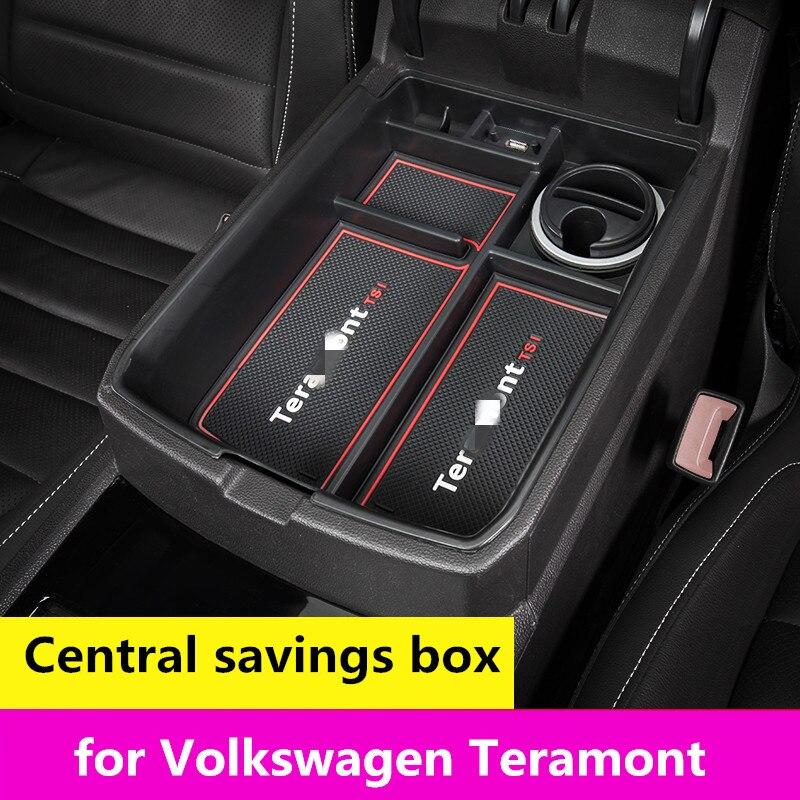 for Volkswagen Teramont central armrest box storage interior accessories