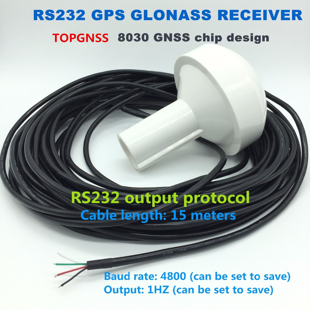 12V 15m cable RS232 protocol marine timing Industrial control applications 4800 baud rate GNSS GPS GLONASS