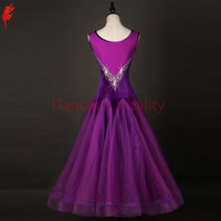 Girls ballroom dance dress Women ballroom dancing clothing sexy mesh sleeveless ballroom dance dress for dance wear S 6XL
