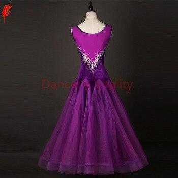 e2f242275b Niñas Ballroom Dance vestido de baile sexy vestido sin mangas de la danza de  salón de baile desgaste s-6xl