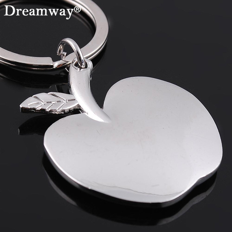 apple keychain. metal apple pendant keychain fashion christmas gift cars key ring charm women handbag accessory factory