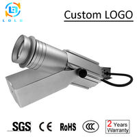 Waterproof Silver Small Casing 20W LED Rotary Gobo Projector Advertising Logo Custom Image 20W Logo Gobo Projector with One Gobo