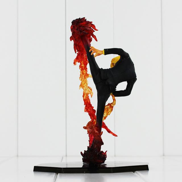 One Piece Black Leg Sanji Fire Battle 17cm PVC Anime Action Figure Collection Model Toy