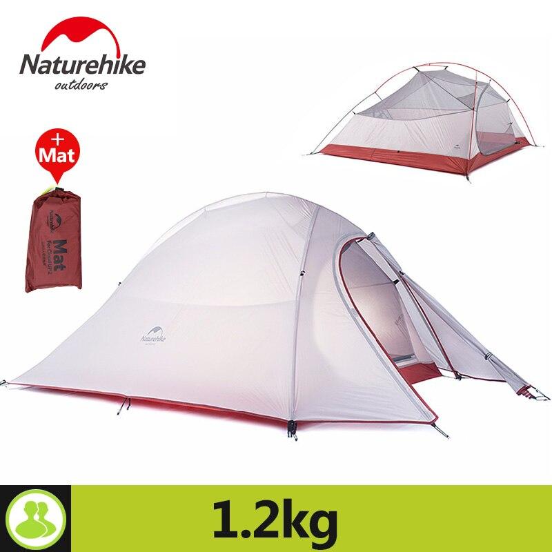 Naturehike 2 Человек Палатка для Пеший Туризм праздник 4 сезон 20d силиконовые Ткань Двойной Слой Непромокаемые Открытый лагерь на пляже палатки