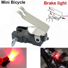 New Mini Bike Bicycle brake LED light Taillights mount tail rear bicycle light cycling led Safety Warning accessories V Brake