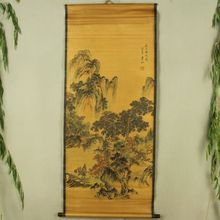 China Antique collection Boutique Calligraphy and painting Fishing diagram