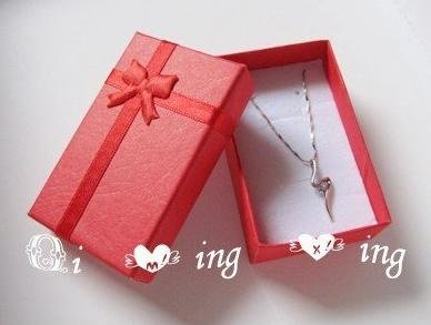 Free Shipping 5x8x2 5cm Jewelry Packaging Ring Earring Gift Box 48pcs Lot Red Pink