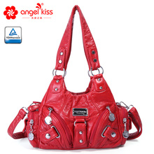 Angels barcelo leather bags soft washing PU ladies casual tote hobos hand purse XS160922