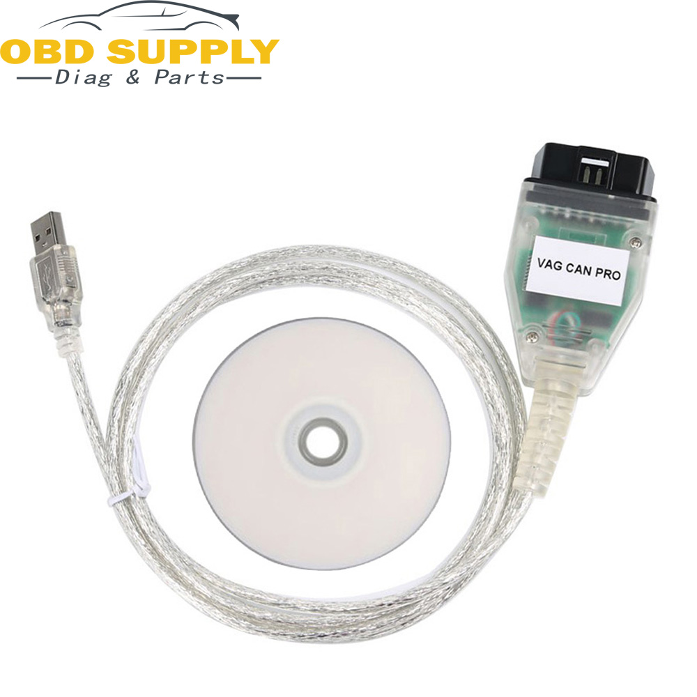 V5.5.1 with FTDI FT245RL For AUDI For VW VAG CAN PRO Cable + ATMEGA162 Chip OBD2 Diagnostic Cable Without USB Dongle цена