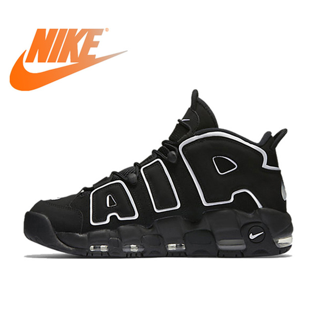 Original Authentic Nike Max Air More Uptempo Men's Breathable Basketball Shoes Sports Sneakers Outdoor Medium Cut Shoes