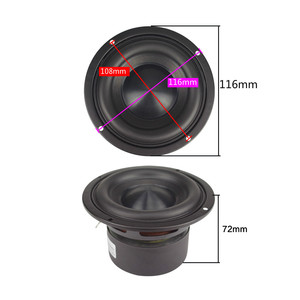 Image 2 - Ceramic Cap 4 inch 116mm Subwoofer Speaker Unit 50W Black Diamond Alumina Cap Woofer LoudSpeaker Desktop Deep Bass NEW 1PCS